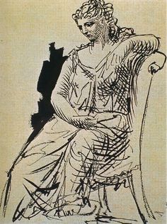 Pablo Picasso , Femme assise 1923