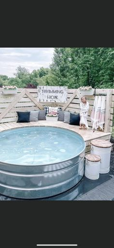 Stock Pools, Stock Tank Pool, Laying A Patio, Bathroom Furniture Design, Backyard Patio Designs, Plunge Pool, Best House Plans, Porch Decorating, Outdoor Living