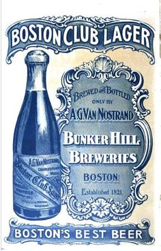 List of defunct consumer brands - Wikipedia Vintage Ads, Vintage Posters, Boston Brewery, Beer Week, Blue Words, Bunker Hill, Creative Typography, Pub Crawl, Cha Cha