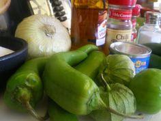 Green chili chutney for Bajio style green chili chicken salad.