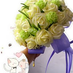Graceful 18 Rosa Champagnes Artificial Wedding Flowers Bouquet [10103028] - US$45.99 : DressKindom