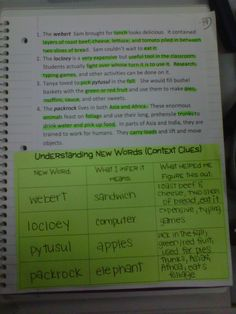 Context Clues example...good idea for reading I.N. @Kristi Cequina