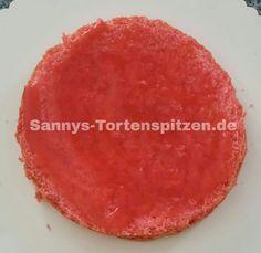 Biskuitboden mit Erdbeerpüre