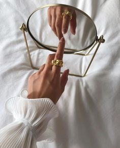 Exuding elegance, the gold-plated Emery Ring features a sculptural design that's perfect for stacking or worn as a feature on its own. Classy Aesthetic, Gold Aesthetic, Aesthetic Vintage, Jewelry Photography, Creative Photography, Photography Poses, Fashion Photography, Tumblr Aesthetic Photography, Minimal Photography