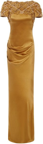Love this: Marchesa Silk Crepe Open Back Gown @Lyst   jaglady