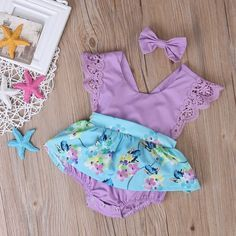 Alexia Romper beautiful baby girl romper purple with turquoise floral fabric skirt cake smash outfit baby girls clothes first birthday outfit spring my first easter outfit