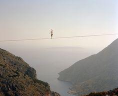 Walk the line. #tightrope