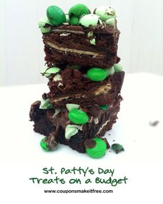 Coupons Make it Free Blog: St. Patty's Day Treats: Mint Chocolate Chip Brownies