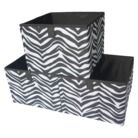 "Cute Zebra Storage.... Sold in a set of 3 from Target. ""Xhilaration""  9.99"