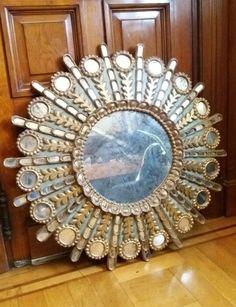 Espejo sol Peruano Peacock Mirror, Mirrors, Decorative Wall Mirrors, Round Mirrors, Sun Mirror, Mirror