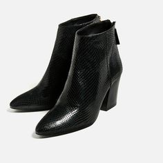 EMBOSSED LEATHER HIGH HEEL ANKLE BOOTS-SHOES-WOMAN-COLLECTION SS/17 | ZARA United States