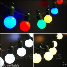 £20 plus postage 20 LED FESTOON GLOBE FAIRY STRING LIGHTS OUTDOOR GARDEN CHRISTMAS PARTY 5M