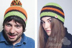 """Kit Hat"" modèles du kit coloris 780-069-392 https://www.rosemouton.com/lanas-stop-kit-hat-1394.html"