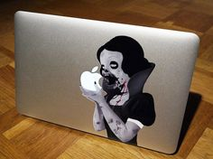 I originally wanted the normal Snow White decal for my computer... but the zombie version is SO much cooler