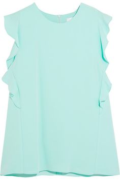 CARVEN Ruffled Crepe Top. #carven #cloth #tops