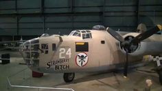 "The B-24 was employed in operations in every combat theater during World War II. Because of its great range, it was particularly suited for such missions as the famous raid from North Africa against the oil industry at Ploesti, Rumania, on Aug. 1, 1943. This feature also made the airplane suitable for long over-water missions in the Pacific Theater. More than 18,000 Liberators were produced. The B-24D on display in the WWII Gallery at the National Museum of the U.S. Air Force flew combat missions from North Africa in 1943-1944 with the 512th Bomb Squadron. It was flown to the museum in May 1959. It is the same type airplane as the ""Lady Be Good"" -- the world-famous B-24D that disappeared on a mission from North Africa in April 1943 and was found in the Libyan Desert in May 1959."