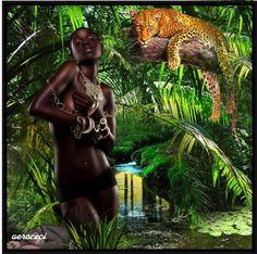 """~ Jungle Women ~"" by aeroceci ❤ liked on Polyvore"