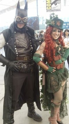 Batman & Poison Ivy Steampunk Cosplay