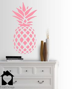 Large Pineapple Decor Summer Vinyl Wall Decal - childrens Room sticker 2030_