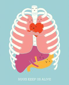 Hugs keep us alive. Obviously I can't be hugging most patients or clients, but I love the sentiment.