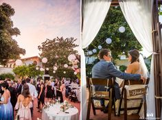 Bride and groom signs and venue photograph at the Darlington House at dusk in La Jolla, California #weddingphotography / from truephotography.com