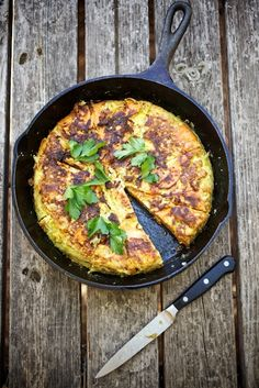 Spanish Sweet Potato Tortilla with Salsa Verde