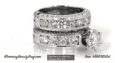 Unique Engagement Ring Set By Blooming Beauty Ring Jewelers