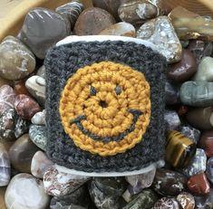Mustard Smile! Crocheted Mug Cosy or Mug Hug! Give your Mug a Hug! £4.00