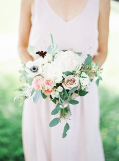 Anemone and rose wedding bouquet: Photography: Deer Lovers - http://deer-lovers.com/