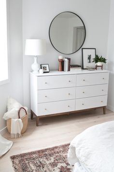 Most current Pictures 11 Genius IKEA Bedroom Hacks That Will Blow Your Mind 11 Genius IKEA B. Suggestions There is nothing Greater when compared to a ingenious IKEA Hack of worn place, and it is a good ex Ikea Bedroom Furniture, Bedroom Dressers, Dresser As Nightstand, Home Decor Bedroom, Furniture Ideas, Diy Bedroom, Modern Bedroom, White Dressers, Furniture Layout