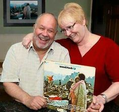 From fb by 107.3 the wave:  the couple from the Woodstock album is still together after 46 years!