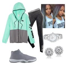 """""""Untitled #48"""" by jadechanteon on Polyvore featuring Victoria's Secret, FOSSIL and Icz Stonez"""