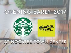 Starbucks and Tijuana Flats are coming to the Nocatee Town Center. Find more BIG #NocateeNews on the Nocatee Blog! #coffeelovers @tijuanaflats