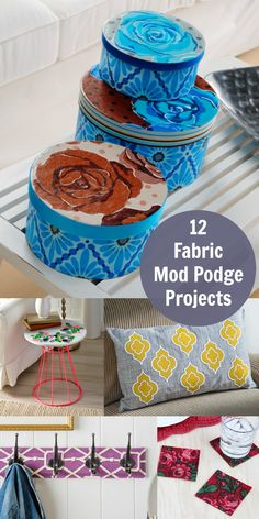 Have you tried using Fabric Mod Podge? These 12 crafts are our favorites for making with this awesome decoupage formula!