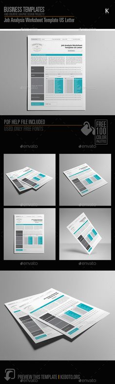 Job Analysis Worksheet Template Us Letter Is An Indesign Template