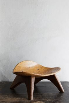 Wooden Stool | From a unique collection of antique and modern stools at https://www.1stdibs.com/furniture/seating/stools/