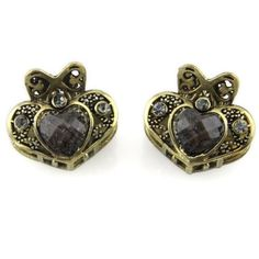 Heart Tiara  Rhinestone Inlay  Two Piece Set  Hair Claw  Black *** Read more  at the image link. (This is an Amazon affiliate link and I receive a commission for the sales and I receive a commission for the sales)