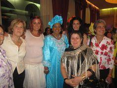 Con la mujer del Presidente de Bamako