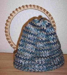 Loom hat-We knitted hats for Children's Hospitals for Hats Off For Cancer