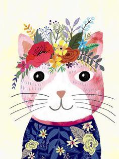 Mafi the cat- Mia Charro #CatIllustration