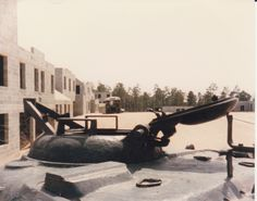 Derelict vehicles in MOUT city.