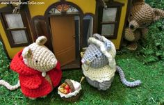 Little Red Riding mouse free amigurumi pattern set! Because there are a few