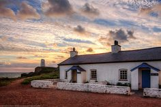 Pilots Cottages, Llanddwyn Island, Newborough Warren, Anglesey, Wales
