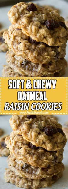 Soft Oatmeal Raisin Cookies, Oatmeal Cookie Recipes, Baked Catfish Recipes, Healthy Dessert Recipes, Cake Recipes, Desserts, Diabetic Recipes, Baking Recipes, Dinner Recipes