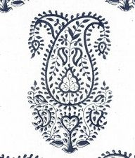 Block printed paisley design from Les Indiennes