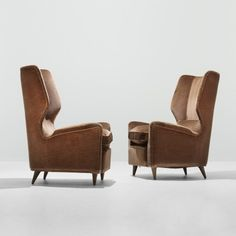 "Gio Ponti ""Lounge Chairs from Hotel Bristol in Merano"" 1950"