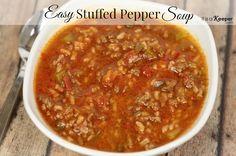 Soup Recipe Ideas Easy Stuffed Pepper Soup