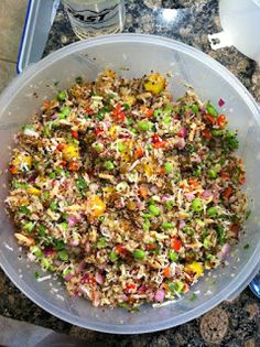 My Quest to Become Plant Strong: California Quinoa Salad (Whole Foods copycat)