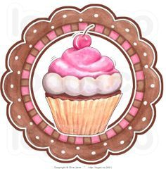 Royalty-free vector clipart illustration of a cupcake and circle bakery logo. This cupcakes stock logo image was designed and digitally rendered by Gina Jane. Cupcake Logo, Cupcake Clipart, Cupcake Bakery, Cupcake Art, Vintage Cupcake, Cupcake Tattoo Designs, Cupcake Tattoos, Cupcake Kunst, Logo Doce