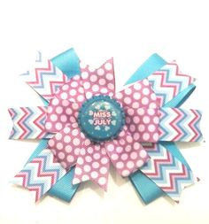 Miss July Hair Bow  Children's Hair Bow  by CCSBOWTIQUE2010
